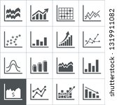 set of icons graphic. a vector... | Shutterstock .eps vector #1319911082