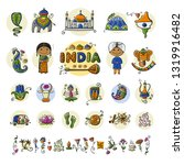 india  icons set. sketch for... | Shutterstock .eps vector #1319916482