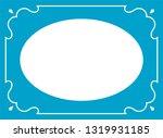 vector blue oval border frame.... | Shutterstock .eps vector #1319931185