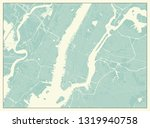new york usa map in retro style. | Shutterstock .eps vector #1319940758