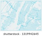 new york city downtown and... | Shutterstock .eps vector #1319942645