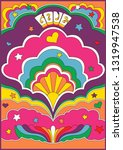isolated vintage psychedelic... | Shutterstock .eps vector #1319947538
