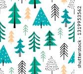 forest seamless pattern.... | Shutterstock .eps vector #1319953562