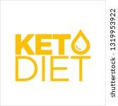 keto diet icon | Shutterstock .eps vector #1319953922