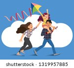 vector illustration of a happy...   Shutterstock .eps vector #1319957885