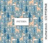 giraffe in the woodlands...   Shutterstock .eps vector #1319958968