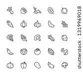 vegetables icon aet. editable... | Shutterstock .eps vector #1319969018