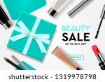 beauty sale template with... | Shutterstock .eps vector #1319978798