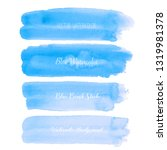 blue brush stroke watercolor on ... | Shutterstock .eps vector #1319981378