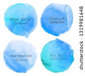 blue watercolor circle set on... | Shutterstock .eps vector #1319981648