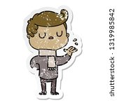 distressed sticker of a cartoon ...   Shutterstock .eps vector #1319985842