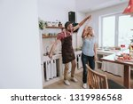 full length portrait of happy... | Shutterstock . vector #1319986568