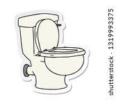 hand drawn sticker cartoon... | Shutterstock .eps vector #1319993375