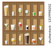 alcohol drinks collection in... | Shutterstock .eps vector #1319998202