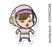 sticker of a cartoon astronaut...   Shutterstock .eps vector #1320002288