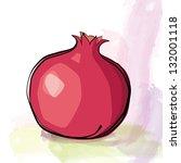 pomegranate. vector illustration | Shutterstock .eps vector #132001118