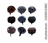 snout dogs set   Shutterstock .eps vector #1320013382