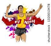 the marathon winner   Shutterstock .eps vector #1320013478