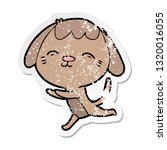 distressed sticker of a happy... | Shutterstock .eps vector #1320016055