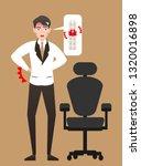 an injured businessman  office...   Shutterstock .eps vector #1320016898