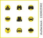 sunny icons set with shorts ...