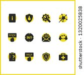 help icons set with help case ...   Shutterstock .eps vector #1320025838