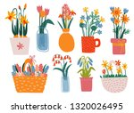 colorful spring flowers in... | Shutterstock .eps vector #1320026495