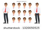 set of male's different facial... | Shutterstock .eps vector #1320050525