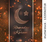 ramadan kareem greeting card...   Shutterstock .eps vector #1320063518