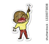 distressed sticker of a cartoon ...   Shutterstock .eps vector #1320073838