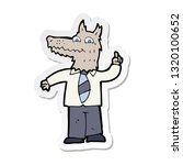sticker of a cartoon business... | Shutterstock .eps vector #1320100652