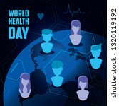 world health day card with...   Shutterstock .eps vector #1320119192