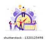 time management  deadline with...   Shutterstock .eps vector #1320125498