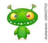 green alien cartoon.... | Shutterstock .eps vector #1320127712