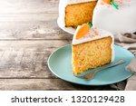 sweet carrot cake slice on...   Shutterstock . vector #1320129428