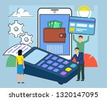 online payment system concept.... | Shutterstock .eps vector #1320147095