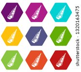 long shell icons 9 set coloful... | Shutterstock .eps vector #1320163475