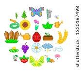 flowering icons set. cartoon... | Shutterstock .eps vector #1320167498