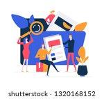 search concept   flat design... | Shutterstock .eps vector #1320168152