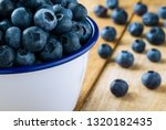 pile of blueberries in the... | Shutterstock . vector #1320182435