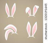 easter bunny's ears vector...   Shutterstock .eps vector #1320191645