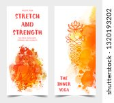 yoga card design. colorful... | Shutterstock .eps vector #1320193202