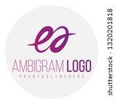 Ea Ambigram Letter Vector Logo...