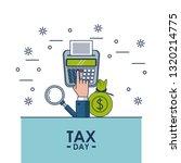 tax day finance card | Shutterstock .eps vector #1320214775
