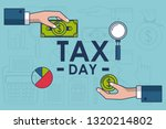tax day finance card | Shutterstock .eps vector #1320214802