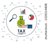 tax day finance card | Shutterstock .eps vector #1320214808