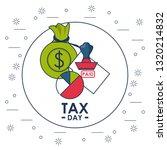 tax day finance card | Shutterstock .eps vector #1320214832