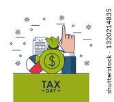 tax day finance card | Shutterstock .eps vector #1320214835