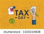 tax day finance card | Shutterstock .eps vector #1320214838