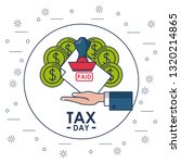 tax day finance card | Shutterstock .eps vector #1320214865